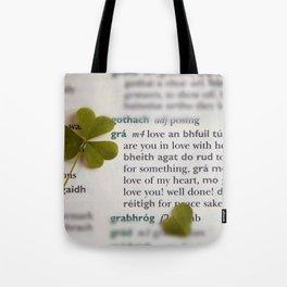 Love in Irish Tote Bag