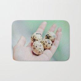 Quail eggs Bath Mat