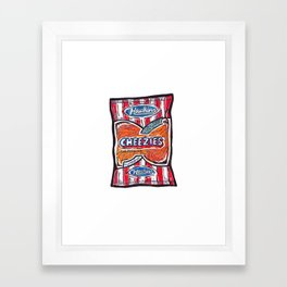 Hawkins Cheezies Framed Art Print