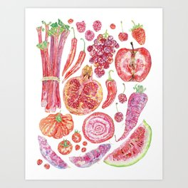 Harvest of Red Art Print