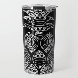 Ornate pineapple - inverted Travel Mug