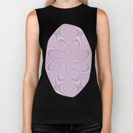 Whirly Bloom Fractal in Rose Quartz and Serenity Biker Tank
