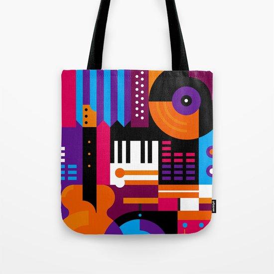 Music Mosaic Tote Bag