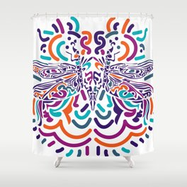Colorful Fly Shower Curtain