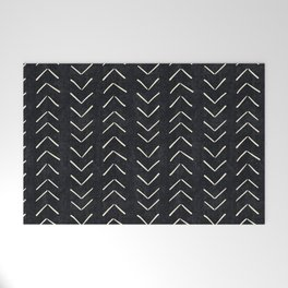 Mudcloth Big Arrows in Black and White Welcome Mat