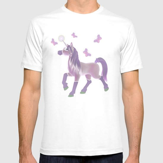Lilac Unicorn .. fantasy art T-shirt