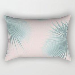 Fan Palm Leaves Paradise #6 #tropical #decor #art #society6 Rectangular Pillow