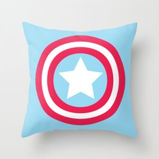 America Pastel Throw Pillow