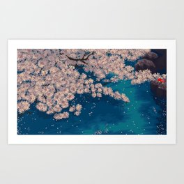 Ohanami Art Print