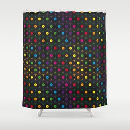 disco records Shower Curtain
