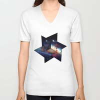 planes V-neck T-shirts featuring Planes by LAMEBOT