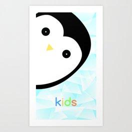 Baby penguin Art Print
