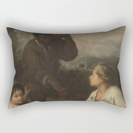 Bartolome Esteban Murillo - Three Boys Rectangular Pillow