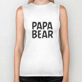 Daddy Mommy And Baby Matching Bear Family And Bodysuit Dad T-Shirts Biker Tank