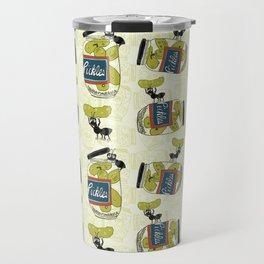 The Pickle Thief Pattern Travel Mug
