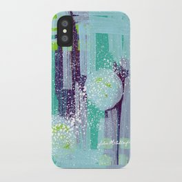 Teal Background iPhone Case
