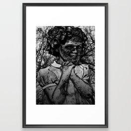 Shirley Temple zombie Framed Art Print