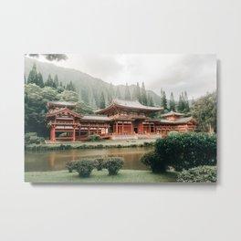 Japan on Hawaii - Byodo-In Temple, Oahu, Hawaii (USA) | Travel Photography Metal Print