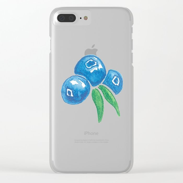 Why So Blueberry? Clear iPhone Case