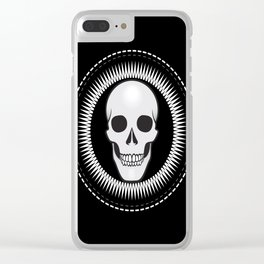 Star skull Clear iPhone Case