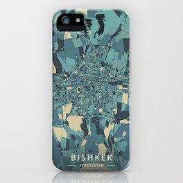 Bishkek, Kyrgyzstan - Cream Blue iPhone Case