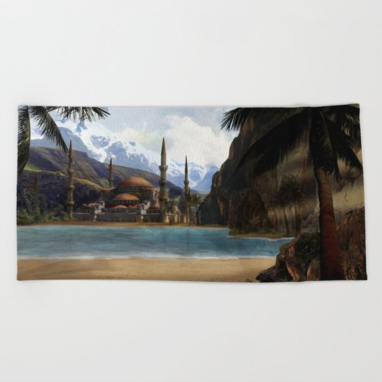Hidden in the Mountains Beach Towel