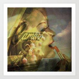 Camero Girl Art Print