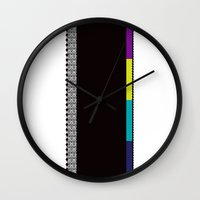 tote bag Wall Clocks featuring Graphic R - For tote bag and pillow by Sandy Kampani