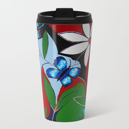 A Butterflies Paradise Metal Travel Mug