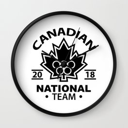 canadian team Wall Clock