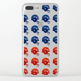 American Football Flag Clear iPhone Case