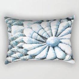 Turquoise Seashell Swirl Rectangular Pillow
