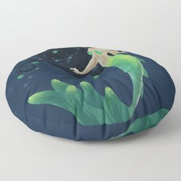 Mermaid Lily Floor Pillow