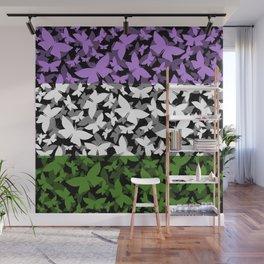 Veil of Butterflies, Pride Series - Genderqueer Wall Mural