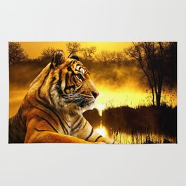 Tiger and Sunset Rug