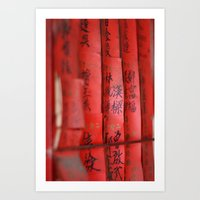 chinese Art Prints featuring Chinese by FranzyCat