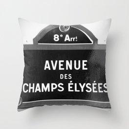 Avenue des Champs Elysees in Paris Throw Pillow