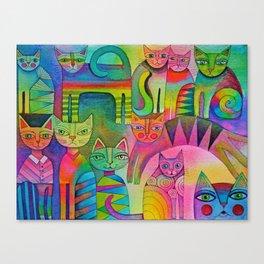 Cat's Pyjamas Canvas Print