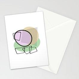 Mid Century V - Abstract Minimalism Stationery Cards