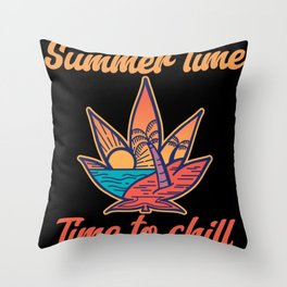 Summer Time - Time To Chill Throw Pillow