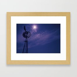 Windmill and Sky Framed Art Print