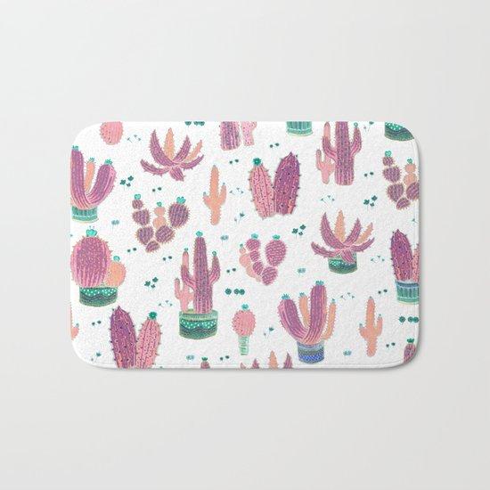 pinky cactus Bath Mat