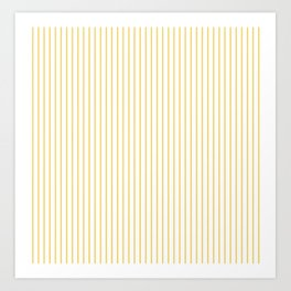 Primrose Yellow Stripes Art Print