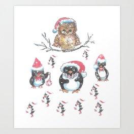"""""""Penguin Party"""" Art Print"""