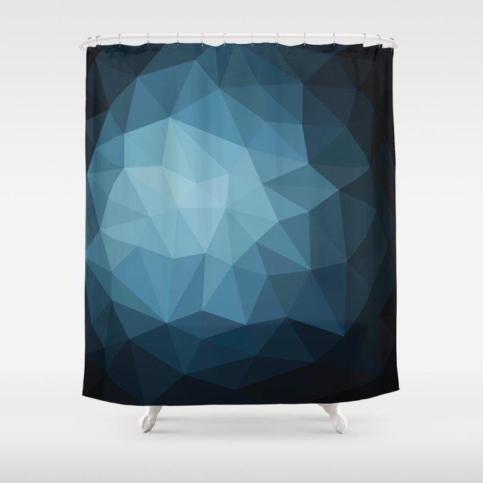Dark Blue Shower Curtain By