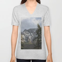Mountains Through The Forest - Nature Photography Unisex V-Neck