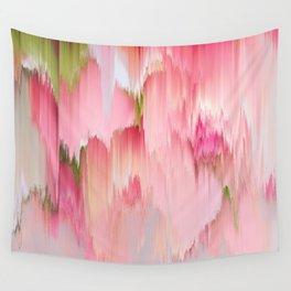 Artsy abstract blush pink watercolor brushstrokes Wall Tapestry