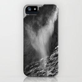 The Ghost. Lauterbrunnen Waterfalls. Alps. Switzerland. Bw iPhone Case