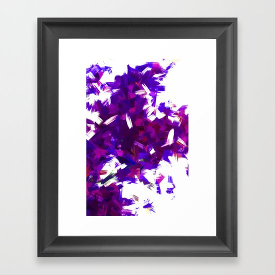 BLOSSOMS - PURPLE BLUE Framed Art Print
