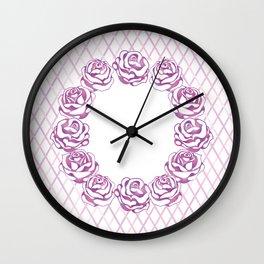 Elegant beautiful pink rose Wall Clock